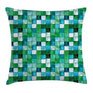 Pillow Case Mosaic Square Tiles Cover No Insert